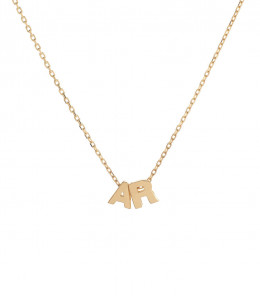 18k Gold Initials Necklace