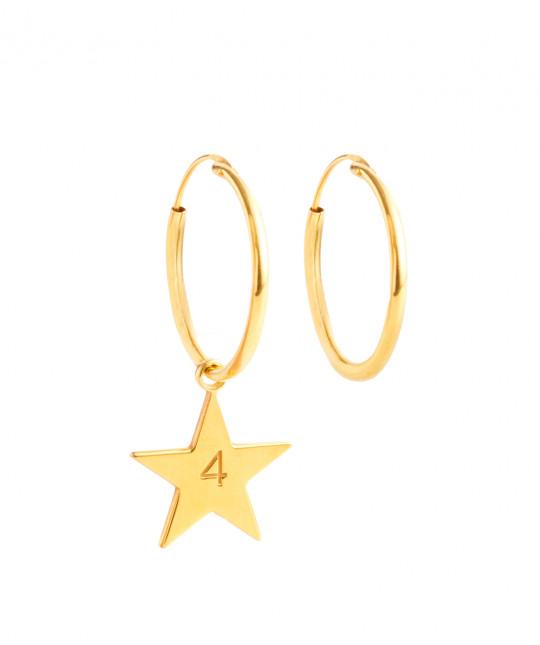 Pendientes Estrella Oro