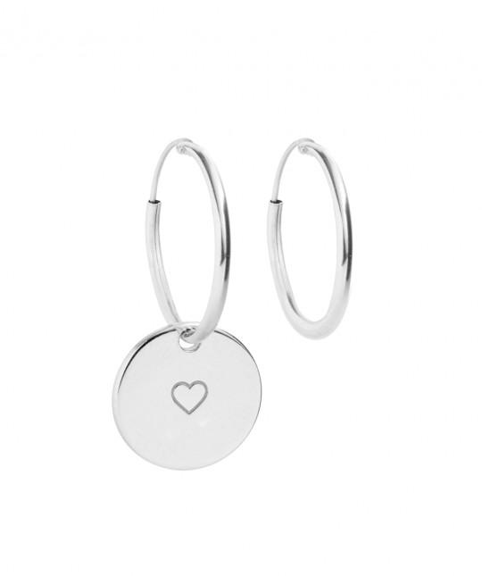 Silver Medal Earrings