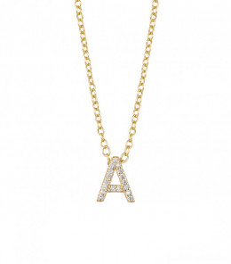 Plate Gold Initial Necklace...