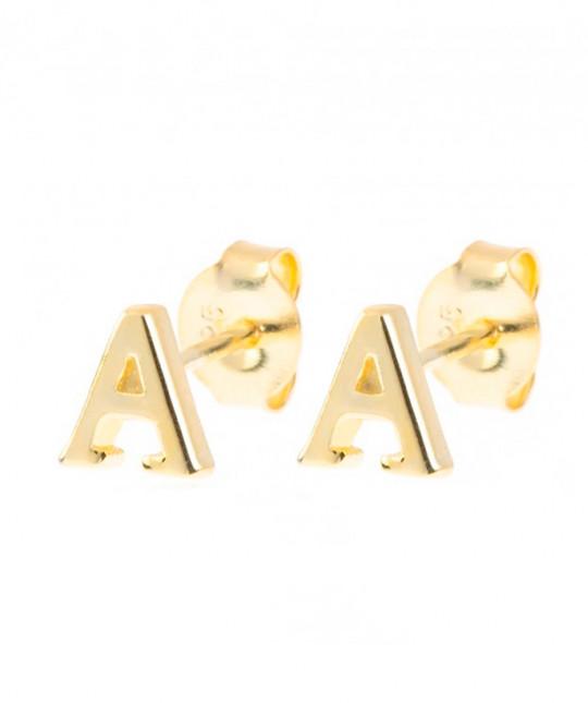 Initial Gold Earrings