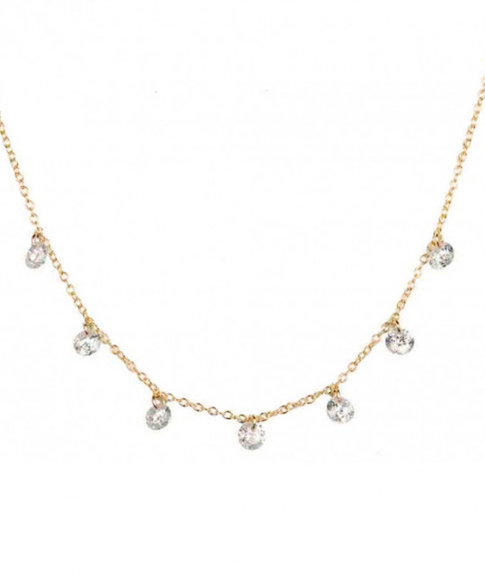 Seven Zirconias Necklace