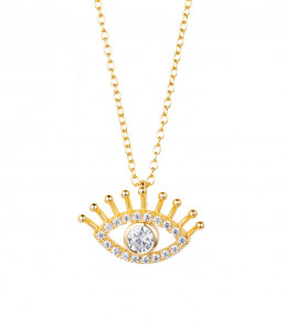 Eye Zirconia Necklace