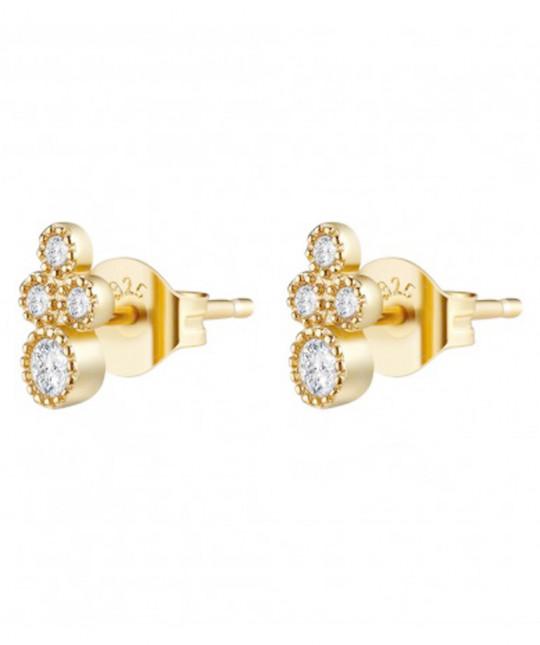 4 Zirconia Earrings