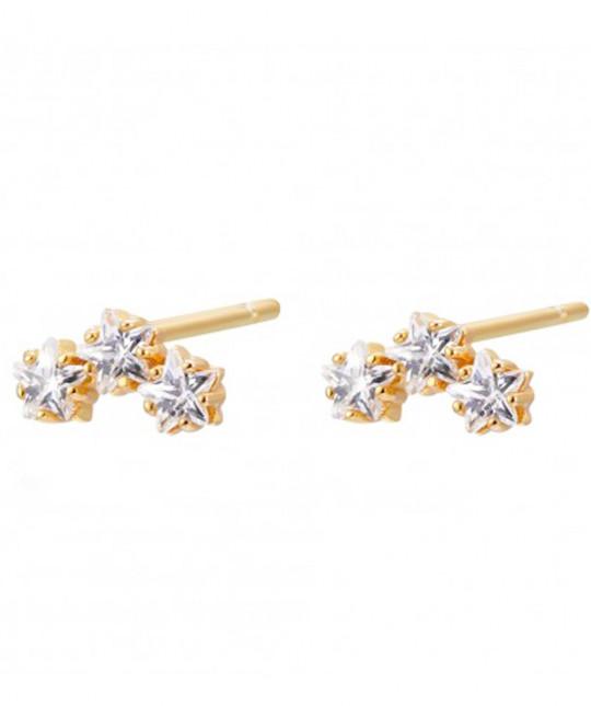 Zirconia Star Earrings