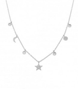 Necklace 7 Charms Zirconia...