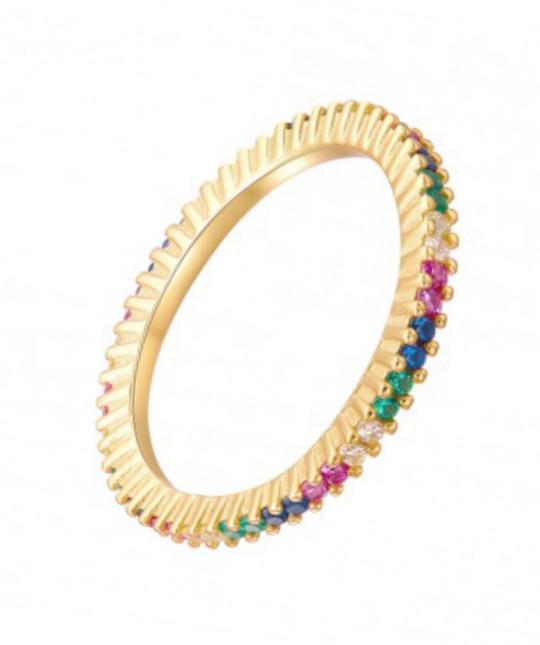 Colored Zirconia Ring