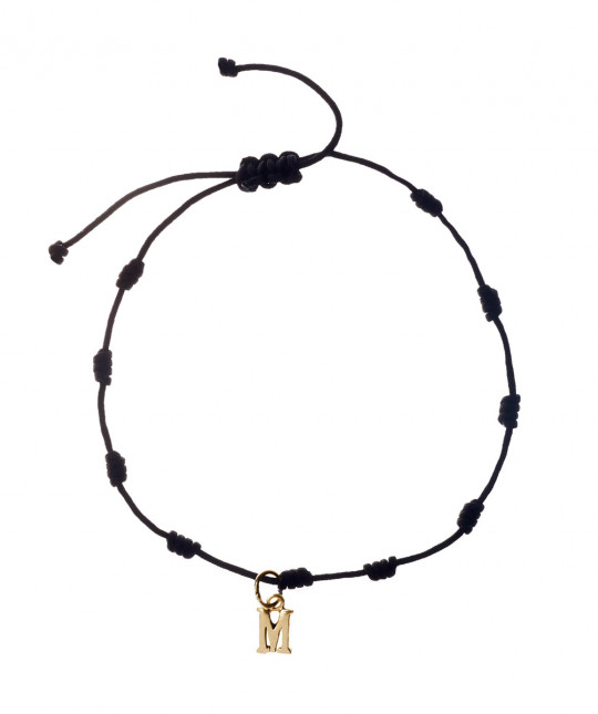 Gold 1 Initial Bracelet