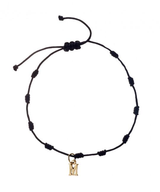 Gold 3 Initials Bracelet
